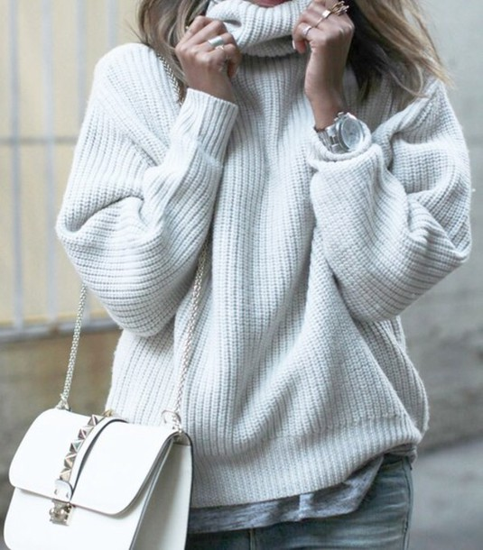 5ed5c7337 Oversized Chunky Turtleneck Sweater