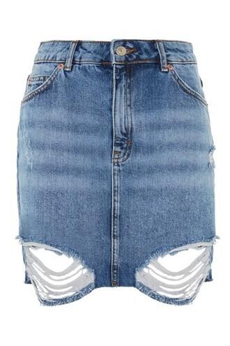 skirt mini skirt denim mini ripped