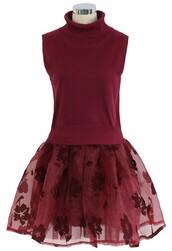 chicwish,twinset,organza,skater dress,wine