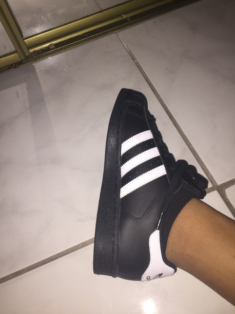 adidas superstar noir tumblr