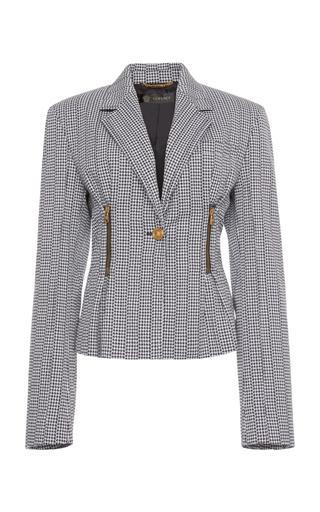 Tailored Printed Blazer by Versace   Moda Operandi