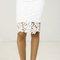 Crochet overlay pencil skirt