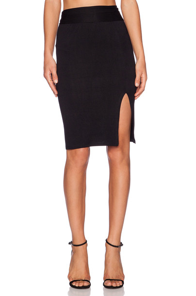 CLAYTON skirt pencil skirt black