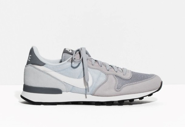 fba3103ef4e88 shoes nike grey sneakers light blue pastel sneakers nike sneakers suede  sneakers