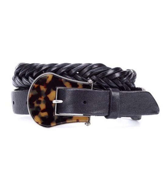 GOLDEN GOOSE DELUXE BRAND braided belt leather black
