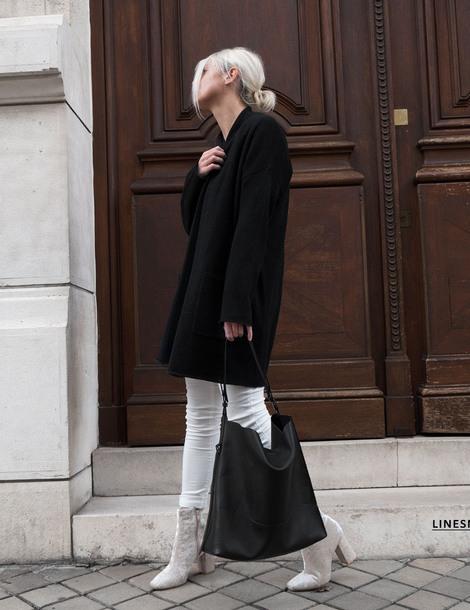 cardigan tumblr black cardigan denim jeans white jeans bag black bag boots white boots ankle boots velvet velvet boots
