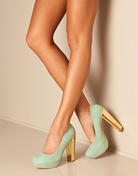 shoes gold heel mint mint heels mint suede
