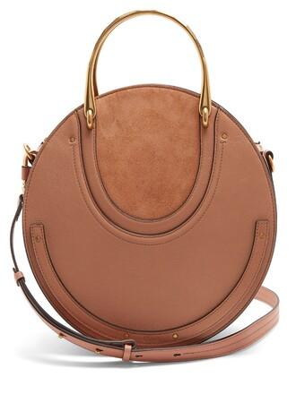 cross bag leather suede nude