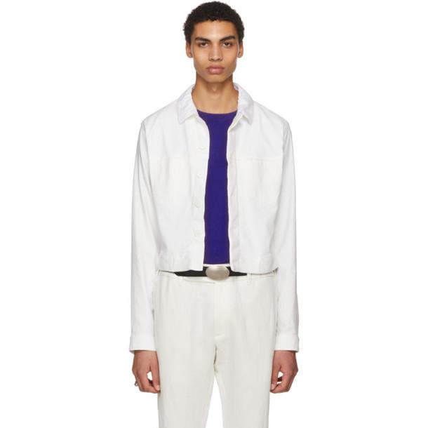 Haider Ackermann Ivory Denim Jacket