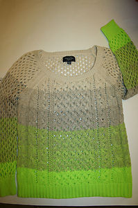 Nwt American Eagle Ae Ombre Open Stitch Sweater Womens Xs Ebay