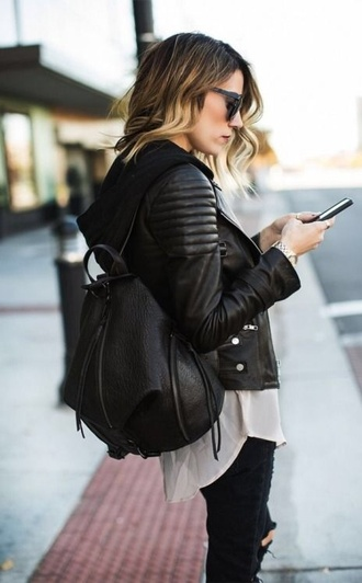 jacket leather black jacket leather jacket bag
