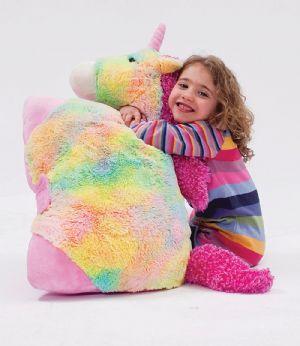 71cm giant rainbow unicorn pillow pet