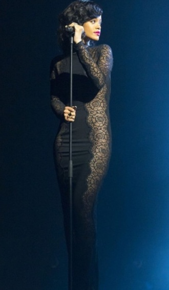 dress black lace prom dress black prom dress black prom dress long prom dress black lace dress little black dress sexy rihanna rihanna style elegant