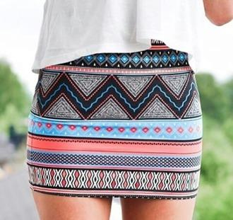 skirt patterned skirt colourful
