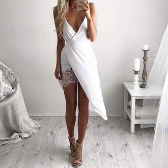 dress white lace bottom half