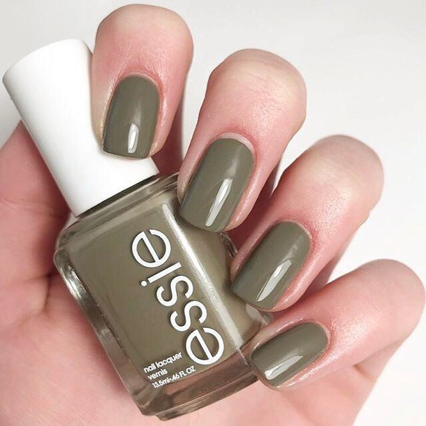 nail accessories, tumblr, khaki, nail polish, nails, essie, fake ...