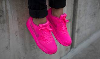 shoes pink neon cute nike nike air force air max 90 girly pretty dope magenta