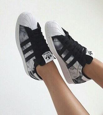 shoes grey black white adidas adidas shoes cool style stylish nice girly