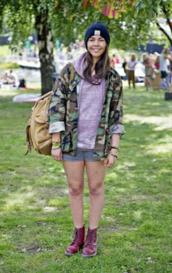 jacket,short,beanie,camouflage,hoodie,backpack,dc martens