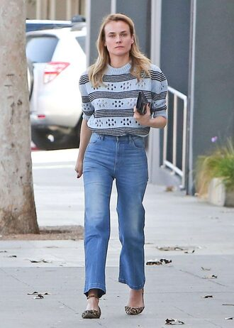 sweater diane kruger spring outfits jeans