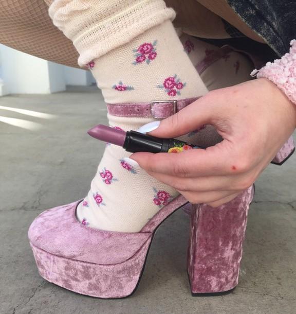 shoes velvet velvet shoes velvet heels heels suede pink pink velvet dusty  pink rose pink heels 43846f7cf