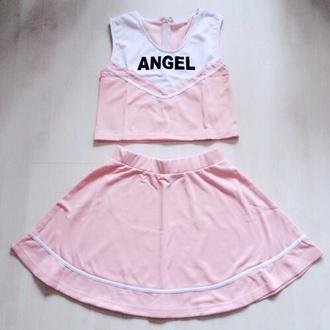 top pink kawaii baby girl cute peachy white