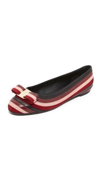 flats stripes shoes