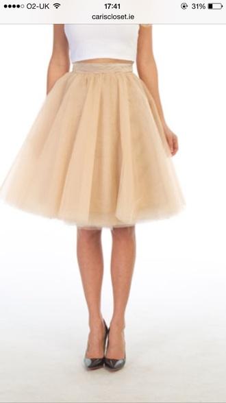 skirt tutu skirt nude mid length