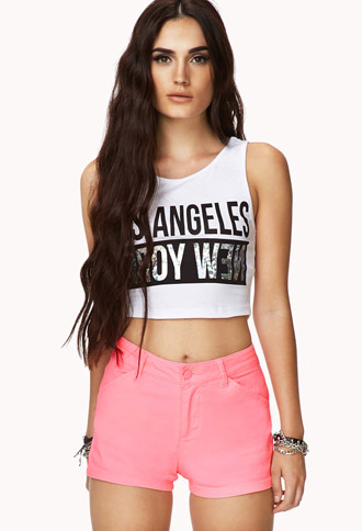 Classic Colored Denim Shorts   FOREVER21 - 2078846888