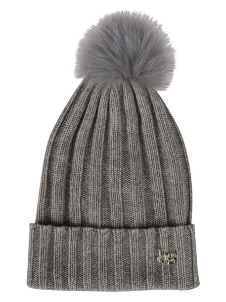 Blugirl fur beanie grey hat