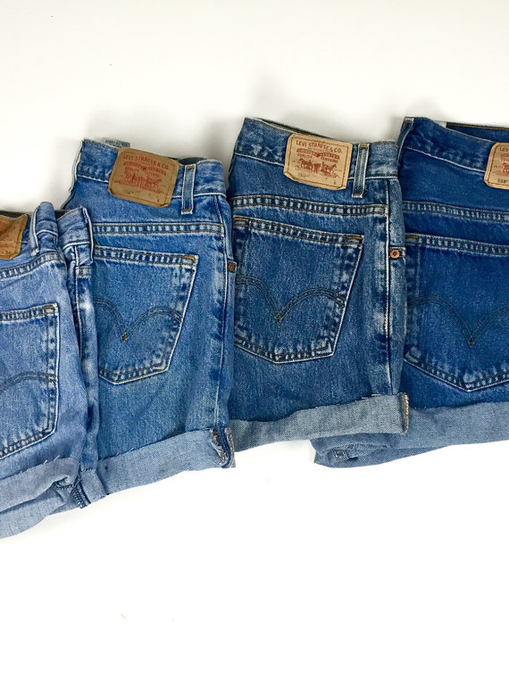 cfbc930004 Free Shipping - ORIGINAL BLUES High Waisted Shorts levis wrangler ...