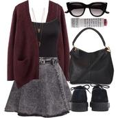 skirt,denim gray skater skirt