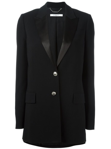 Givenchy blazer long women spandex black jacket