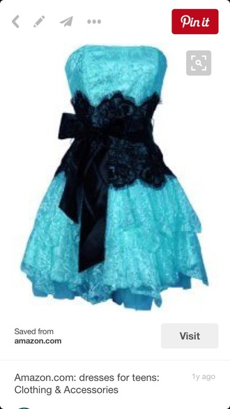 dress blue lace prom dress