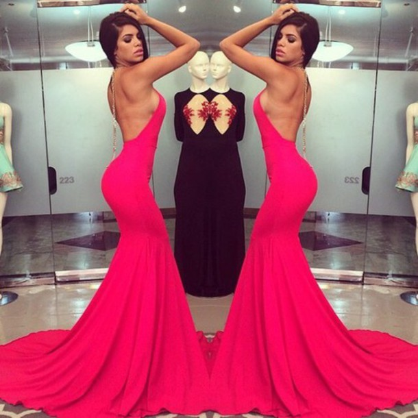 dress red long prom dress dresses. mermaid fish te
