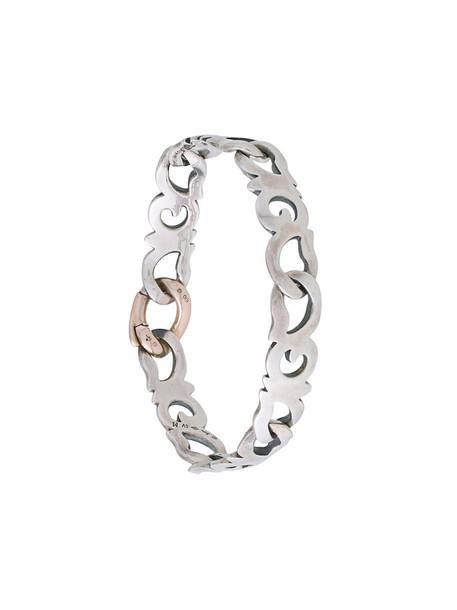 Hum women gold silver grey metallic jewels