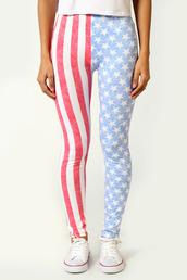pants,leggings,stars and stripes,boohoo.com