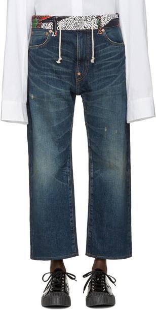 Junya Watanabe Indigo Print Waist Jeans