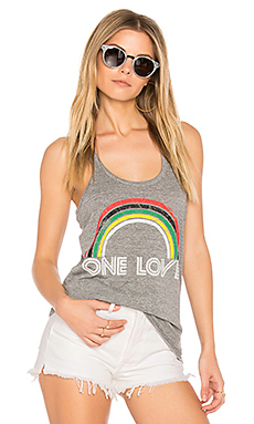 Chaser One Love Rainbow Tank in Streaky Gray from Revolve.com