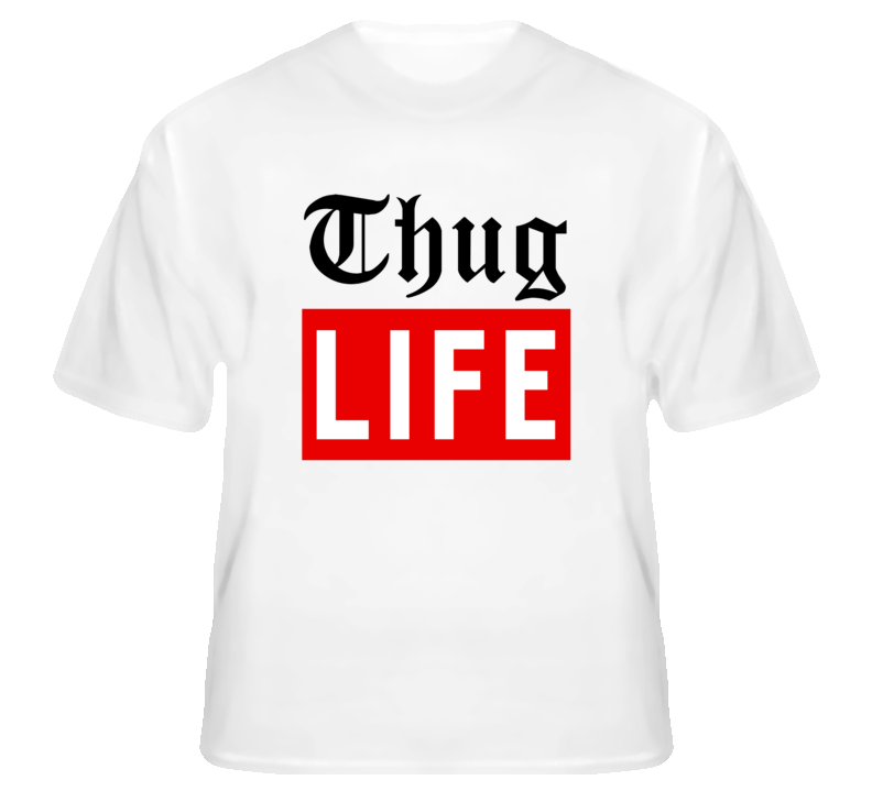 Thug Life Magazine Parody Popular White T Shirt