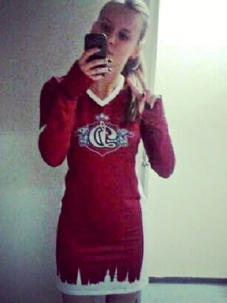 dress red white dinamo