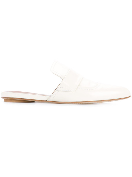 MARNI women leather white shoes