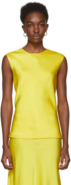 Protagonist tank top top shell yellow
