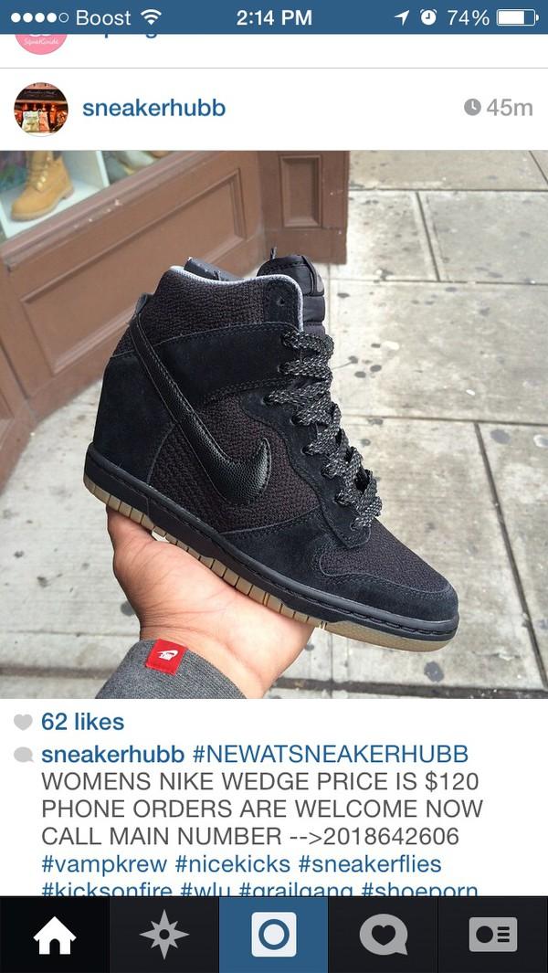 nike wedges black wedges sneakers nike sneakers