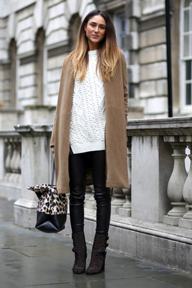 knitwear jewels jumper blogger bag le fashion camel boots