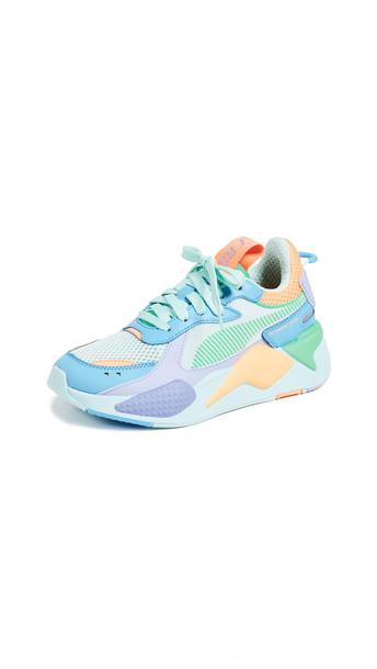 PUMA RS-X Colorblock Sneakers in blue / green / orange / purple