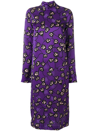 dress print dress women print purple pink