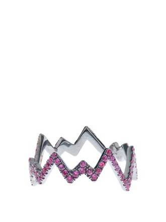 pop art ring gold black pink jewels