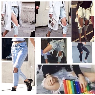 jeans ripped jeans ripped skinny jeans gigi hadid kendall jenner light blue boyfriend jeans boyfriend jeans