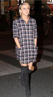 dress,julianne hough,flannel,fall outfits